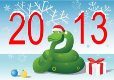 Christmas snake Royalty Free Stock Images