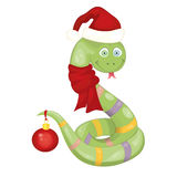 Christmas snake Stock Images