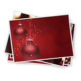 Christmas Snapshots. Digitally Generated Pile of Christmas Pictures Stock Images