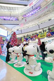 Christmas Snoopy APM decoration in Hong Kong Stock Photo