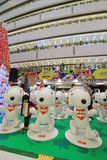 Christmas Snoopy decoration in APM Hong Kong Royalty Free Stock Photos