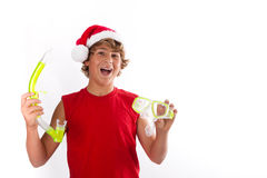 Christmas Snorkeling Stock Images