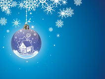 Christmas snow Stock Images