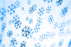 Christmas snow. Shapes of snow flakes falling royalty free stock photo