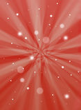 Christmas snow background. With light streaks, starbursts stock photography
