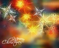 Christmas Snow Background Stock Image