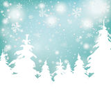 Christmas Snow Background Fir Trees. Snow with fir trees christmas cover Stock Image