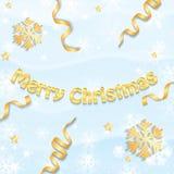 Christmas snow background Stock Photo