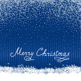 Christmas snow background with handwritten greeting lettering ME. RRY CHRISTMAS. Happy Winter Holiday Snowflakes Greeting card design Royalty Free Stock Photos