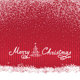 Christmas snow background with handwritten greeting lettering ME. Christmas background with Handwritten Lettering MERRY CHRISTMAS. Happy Winter Holiday Wallpaper Royalty Free Stock Photo