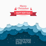 Christmas snow background, Marry  cover, Happy new year, Winter  clouds, Vector illustration Stock Images