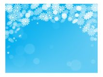 Christmas snow background postcard New year holiday Stock Photo