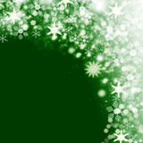 Christmas snow background Stock Image