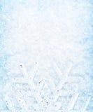 Christmas snow background, snowflake border. Christmas background, snowflake border, cold white blue snow pattern, winter holidays greeting card Stock Image