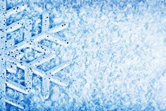 Christmas snow background, snowflake border Stock Image