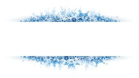 Christmas snow banner. For your design stock illustration