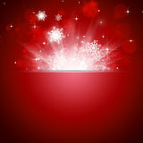 Christmas Snow Blow Red Card Royalty Free Stock Photography