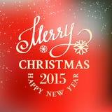 Christmas snow card. Royalty Free Stock Photo