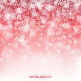Christmas Snow 3D Vector Effect Royalty Free Stock Images