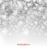 Christmas Snow 3D Vector Effect Stock Image