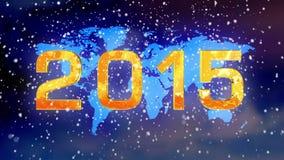 Christmas Snow earth 2015 stock video footage