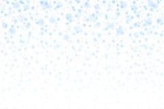 Christmas snow. Falling snowflakes on white background. Snowfall stock illustration