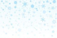 Christmas snow. Falling snowflakes on white background. Snowfall stock image