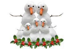 Christmas Snow Family Royalty Free Stock Photos