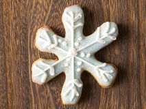 Christmas snow flake cookie Stock Image