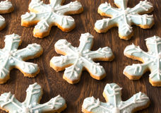 Christmas snow flake cookies Stock Photography