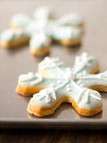 Christmas snow flake cookies Stock Image