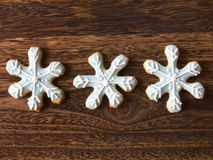 Christmas snow flake cookies Royalty Free Stock Photography
