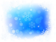 Christmas Snow Flakes. Snow flakes on a blue bacground for christmas Stock Images