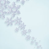 Christmas snow flakes. Christmas abstract background with snow flakes Royalty Free Stock Image