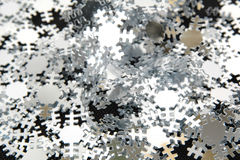 Christmas snow flakes decoration. Close-up Stock Images