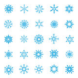 008-Christmas Snow Flakes 004. Set of christmas snow flakes on the white background collection Stock Illustration