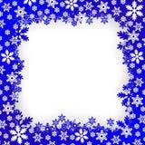 Christmas snow frame Royalty Free Stock Photos
