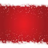 Christmas snow frame isolated on red background. Christmas greeting decoration for banner, poster,. Card. Vector illustration Royalty Free Stock Image