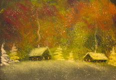 Christmas Snow. And frosty night Royalty Free Stock Photos