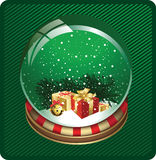 Christmas Snow Globe. Royalty Free Stock Photos