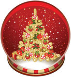 Christmas Snow Globe. Royalty Free Stock Photography