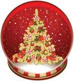 Christmas Snow Globe. Royalty Free Stock Photography