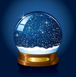 Christmas Snow globe stock illustration