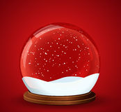 Christmas snow globe. Illustration of the christmas snow globe with snowing inside Royalty Free Stock Photography