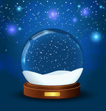 Christmas snow globe Stock Photos