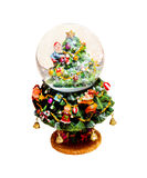 Christmas snow globe Royalty Free Stock Photo