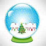 Christmas snow globe Stock Image