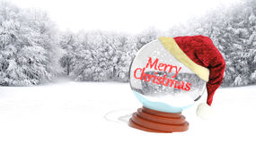 Christmas snow globe Stock Photography