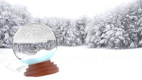 Christmas snow globe Stock Images