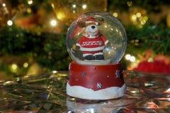 Christmas snow globe ball. Stock Images